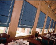 Restaurant, London- Roman blinds