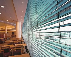 Retail Restaurant, Southampton - 80mm rolled edge Venetian blinds