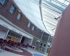 Health Centre, South London - System 8 Electric rooflight blinds