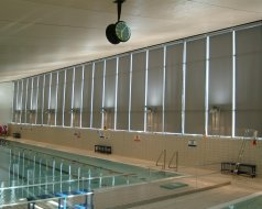 Private Pool, Northamptonshire - Motorised SYSTEM 3 Blinds