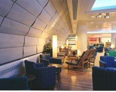 British Airways Airport Lounge - Motorised Roman Blinds